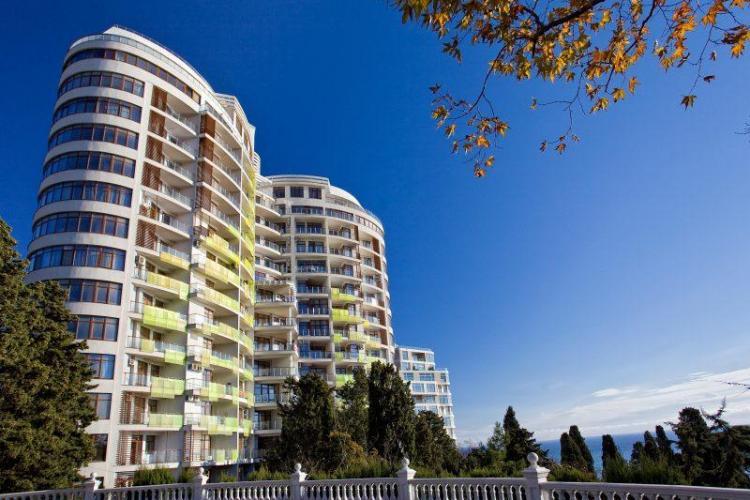 3 комнатная квартира в новом жилом комплексе «Лотос» в Ялте